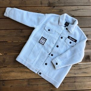 [ F21 Blue Teddy Coat ]